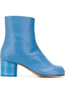 Maison Margiela Ankle Boot Tabi Com Salto 60Mm - Azul