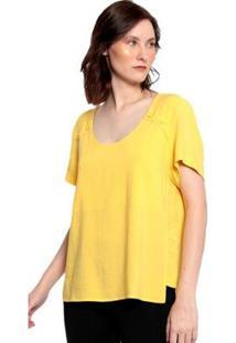 Blusa Lisa Energia Plano Feminina - Feminino-Amarelo