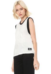 Regata Calvin Klein Jeans Recortes Off-White/Preta