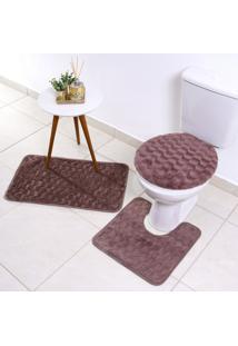Soft Jogo De Banheiro 3 Peças - Cassia - Bene Casa - Tricae