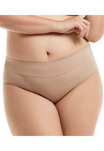 Calcinha Cavada Cós Em Tecido Duplo Mondress (30E) Plus Size