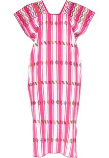 Pippa Holt Vestido Kaftan Com Bordado - Rosa