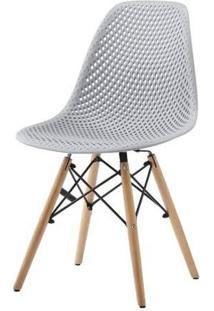Cadeira Lópes Cinza Base Natural 82Cm - 62939 - Sun House
