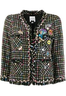 Edward Achour Paris Embellished Tweed Jacket - Preto