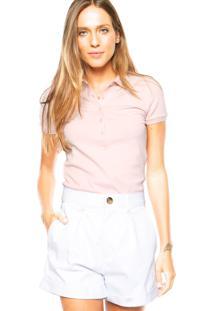 Camisa Polo Lacoste Lisa Rosa