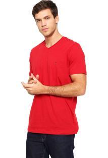 Camiseta Polo Play Lisa Vermelha