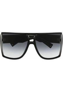 Givenchy Eyewear Óculos De Sol Quadrado Com Lentes Degradê - Preto