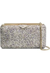 Jimmy Choo Ellipse Clutch - Prateado