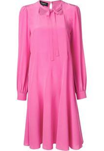 Rochas Vestido De Seda - Rosa