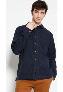 Casaco E-Fabrics Com Bolsos - Azul Marinhoosklen