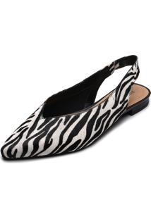 Sapatilha Anacapri Zebra Branca