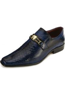 Sapato Promais Pr18-0556Co Verniz Cobra Blue