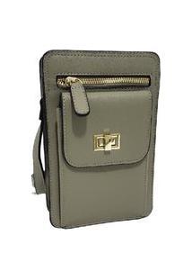 Bolsa Pequena Carteira Porta Celular Documento Transversal Fanlice Shoulder Bag De Lado Verde Claro