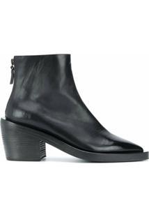 Marsèll Ankle Boot Bico Fino Com Salto Bloco - Preto