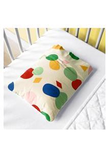 Fronha Bebê Colorido Geométrico Moderno Gráo De Gente Multicolorido.