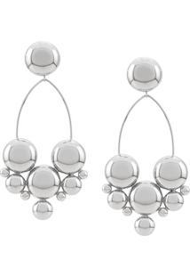Isabel Marant Large Boo Earrings - Prateado