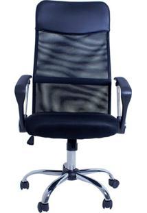 Cadeira Facthus Excellence Office Giratória Preto