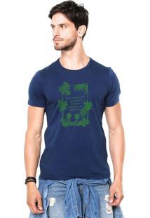 Camiseta Rgx La Capri Med Br Azul