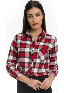 fae960c6b6 ... Camisa Xadrez Vermelha Feminina Principessa Thalita