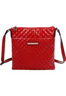 Bolsa Tiracolo Em Matelass㪠- Vermelha - 33X29X16,5Cfellipe Krein