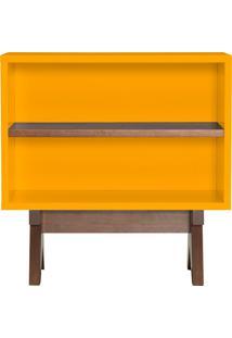 Aparador 60 Cm Paes– Tremarin - Amarelo / Nogal
