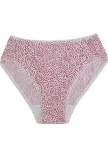Calcinha Calça Cavada Kisslove Demillus 56001 Oncinha Pink