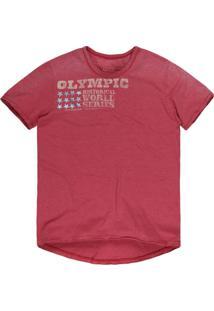 Camiseta Masculina Devorê Olympic Vermelho