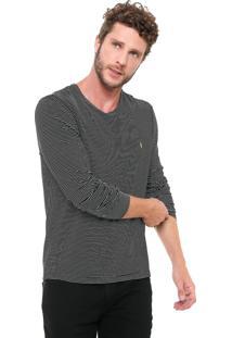 Camiseta Zoomp Listrada Preta/Branca