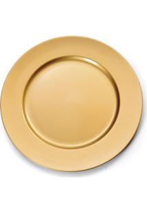 Sousplat Natalino Decoração Mesa Modelo Liso Cor Ouro Dourado