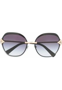 Bvlgari Square Tinted Sunglasses - Azul