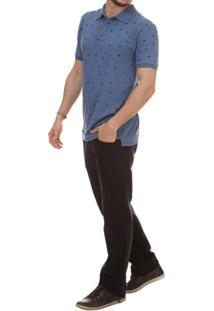 Camisa Pau A Pique Polo Estampada - Masculino