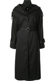 Boyarovskaya Trench Coat Com Cinto - Preto