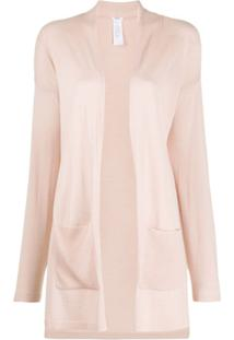 Wolford Cardigan Com Abertura Frontal - Rosa