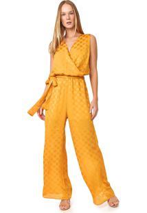 Macacão Calvin Klein Pantalona Poás Amarelo