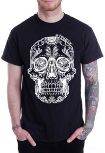 Camiseta Hypnotic Caveira Mexicana Preta