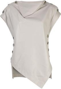 Proenza Schouler Blusa Drapeada Assimétrica - Neutro