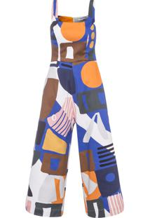 Macacão Feminino Michele Cotton - Azul