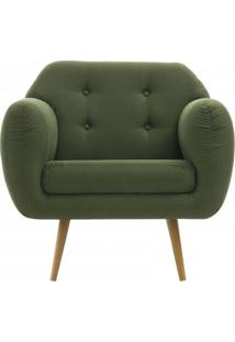 Poltrona Liverpool Verde Pes Palito Tauari - 50153 - Sun House