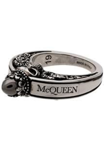 Alexander Mcqueen Anel Com Coroa - Metálico