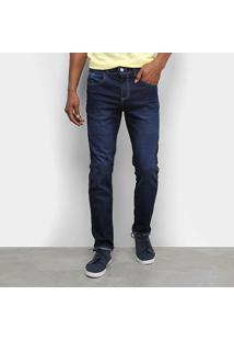 Calça Jeans Tbt Skinny Estonada Masculina - Masculino-Azul