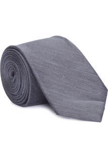 Gravata Slim Linen Solid - Cinza