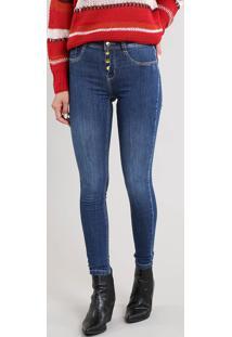 af8d6c174d CEA. Calça Azul Tom Escuro Feminina Sawary Algodão Elastano Jeans ...