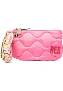 Red(V) Clutch Matelassê Com Logo Bordado - Rosa