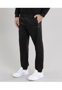 Calça Masculina Esportiva Ace Em Moletom Preta