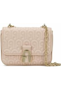 Furla Quilted Logo Shoulder Bag - Rosa