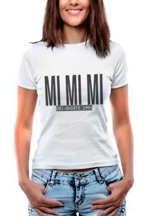 ... Blusa Outletdri T-Shirt Estampada Mi Mi Mi Branca 44e6c5dfa0d98