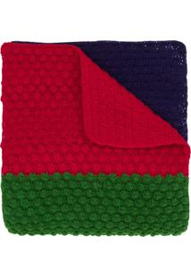 Paul Smith Cachecol Color Block De Lã - Verde