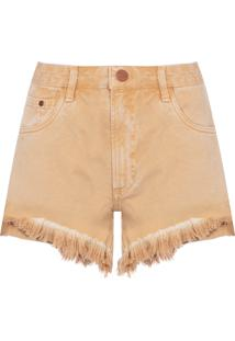Short Feminino Box Color Stonado - Bege