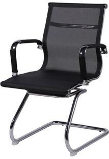 Cadeira Office Eames Em Tela- Preta- 89X54,5X46,5Cm