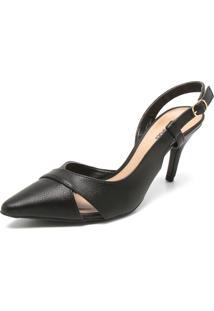 Scarpin Dafiti Shoes Napa Preta